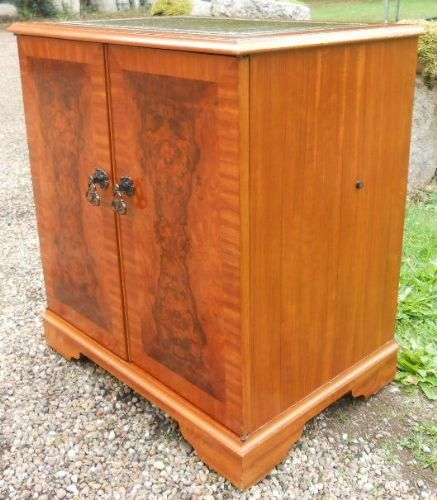 Small Yew LP Record Cabinet